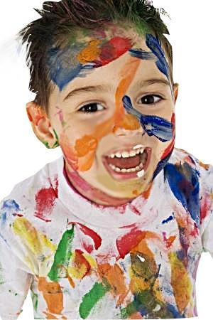Боди-арт для детей прямо в ванной! Краски для тела