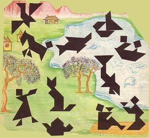 Древняя китайская головоломка Танграм развивает логичекое и образное мышления, комбинаторные навыки. Незаменима при подготовке ребенка к школе
