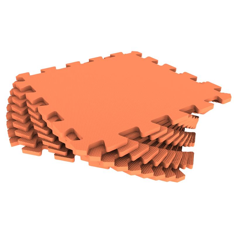 Мягкий пол 33*33 оранжевый